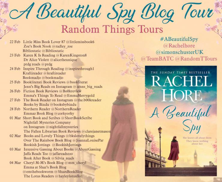 A Beautiful Spy blog tour banner