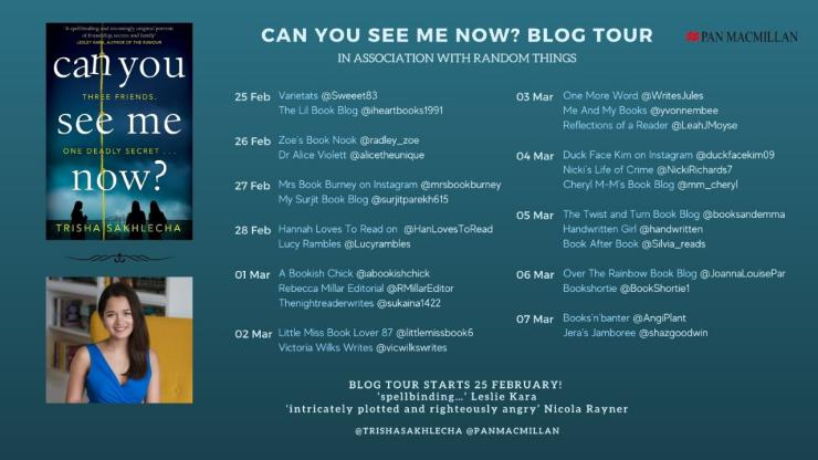 Blog tour: Can You See Me Now? by Trisha Sakhlecha