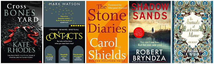 Crossbones Yard, Contacts, The Stone Diaries, Shadow Sands, The Animals at Lockwood Manor