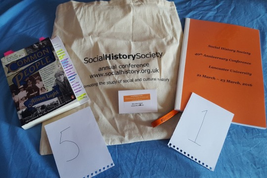Assorted Social History Society conference paraphernalia