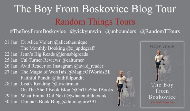 Blog tour: The Boy from Boskovice by Vicky Unwin