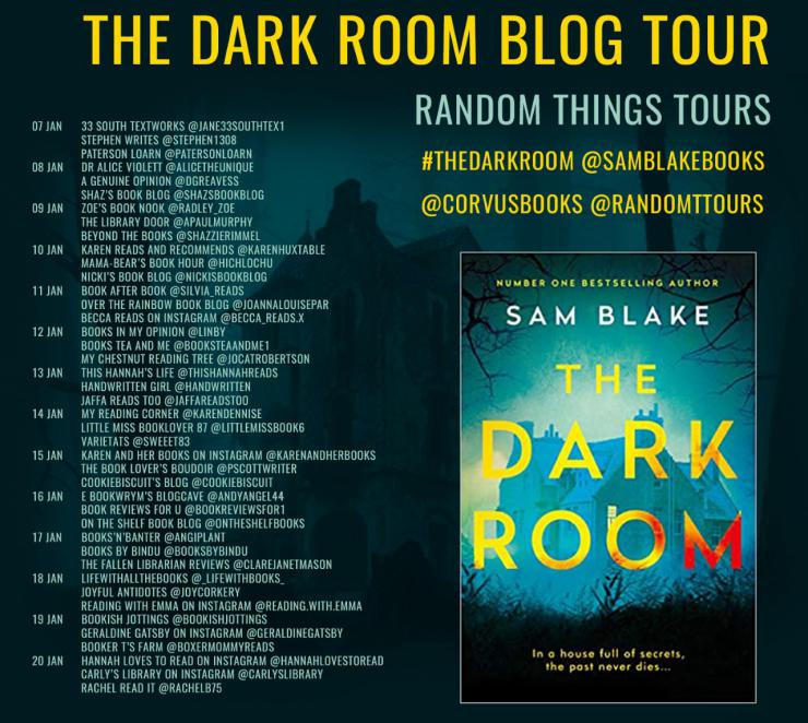 The Dark Room blog tour banner