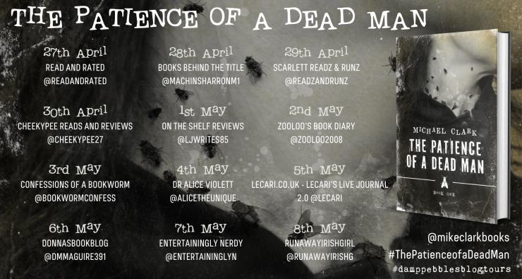 The Patience of a Dead Man blog tour banner