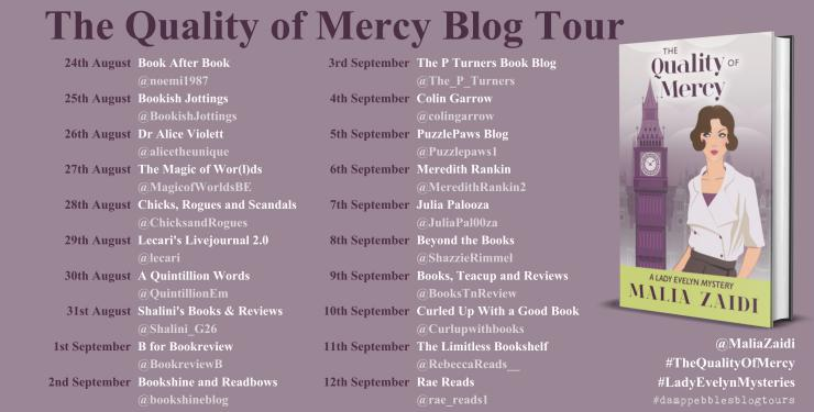 The Quality of Mercy blog tour banner